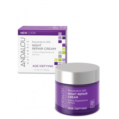 Andalou Age Defying Night Repair Cream With Resveratrol Q10