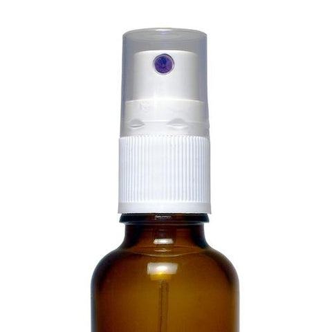Amber Atomiser Spray Bottle with White Top