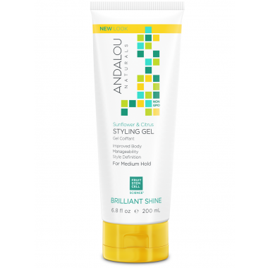 Andalou Brilliant Shine Sunflower & Citrus Styling Gel
