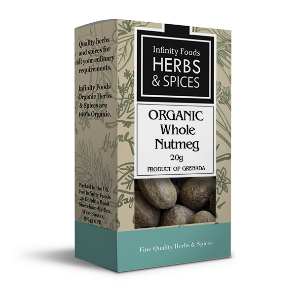 Infinity Herbs & Spices Organic Nutmeg (Whole)