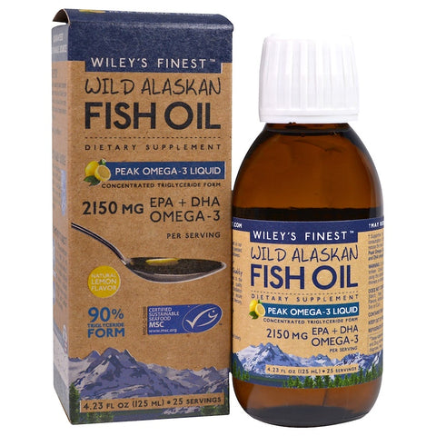 Wiley's Finest Peak Omega-3 Liquid Wild Alaskan Fish Oil