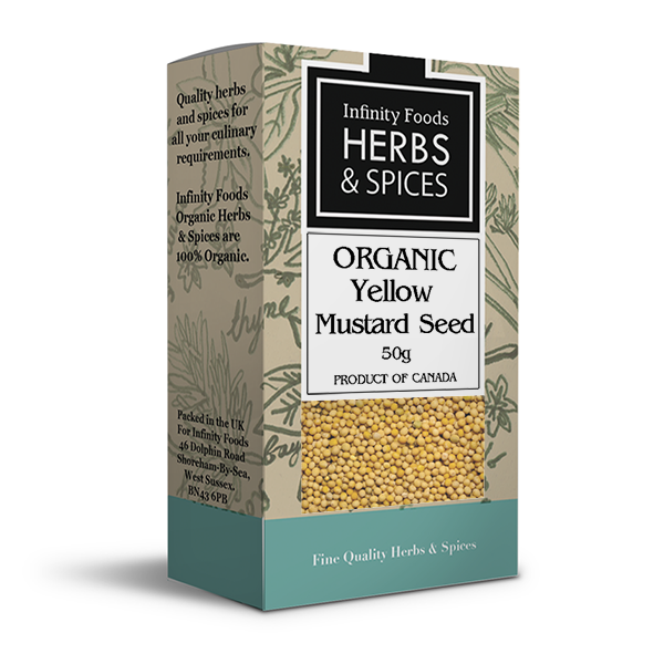 Infinity Herbs & Spices Organic Mustard Seed (Yellow)