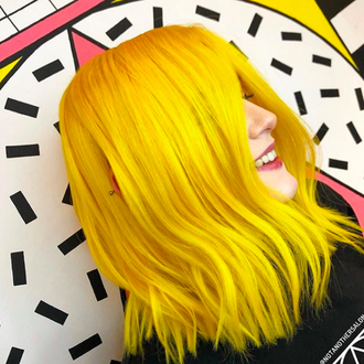 Hello Sunshine! Canary Yellow Hair Hits the Headlines
