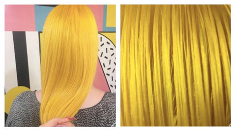 Bright Canary Yellow Hair