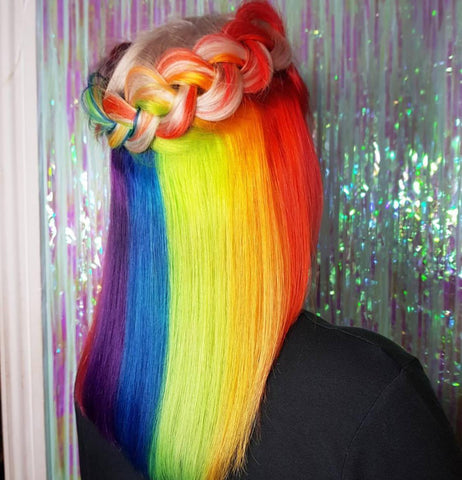 Hidden Rainbow Braid by Curl Up and Dye