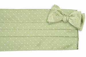 Spring Green Dot Cummerbund Set