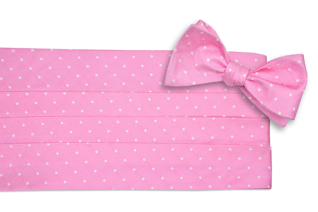 True Pink Dot Cummerbund Set