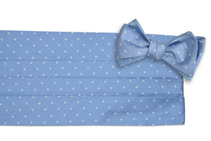 Cornflower Dot Cummerbund Set