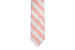 Peach and White Stripe Necktie