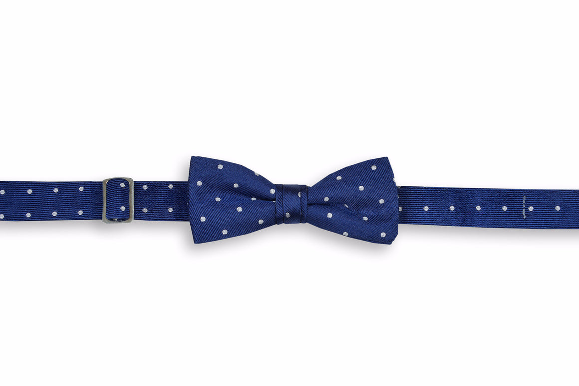 Classic Navy Dot Boy's Bow Tie