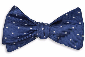 Classic Navy Dot Bow Tie