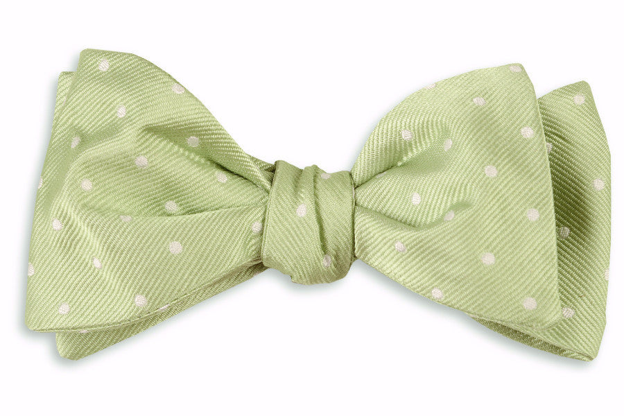 Spring Green Dot Bow Tie