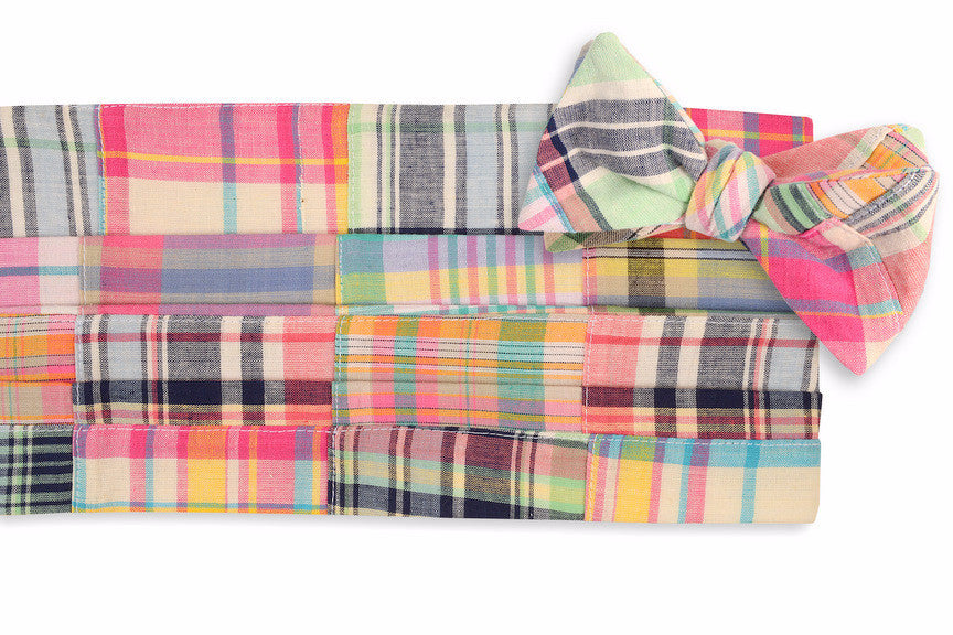 Crawdad Patchwork Madras Cummerbund Set