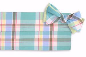 Mint Julep Madras Cummerbund Set