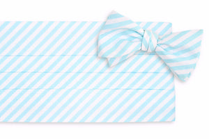 Sea Glass Stripe Cummerbund Set