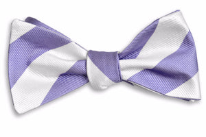 Soft Lavender and White Stripe Bow Tie