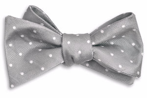 Dusty Gray Dot Bow Tie