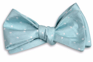 Misty Seafoam Dot Bow Tie