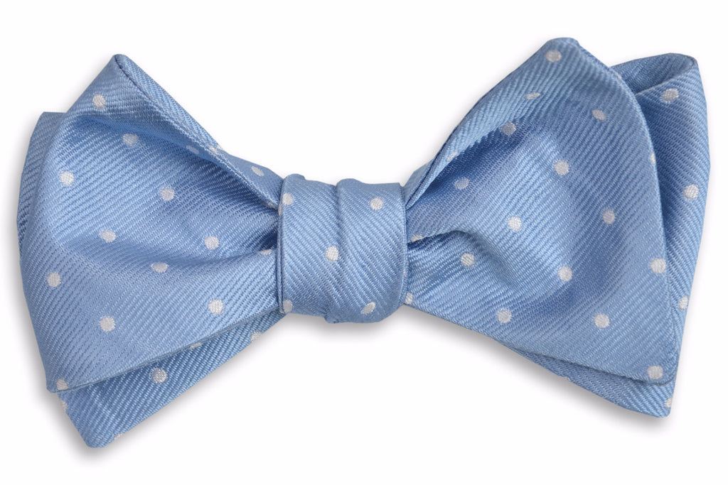 Cornflower Dot Bow Tie
