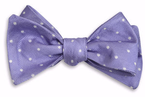 Soft Lavender Dot Bow Tie