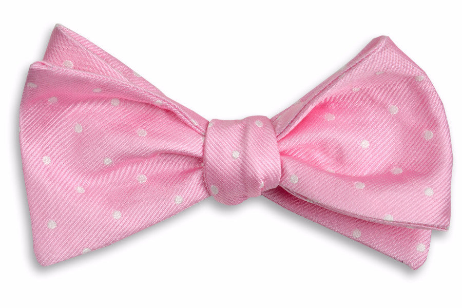 Pale Pink Dot Bow Tie