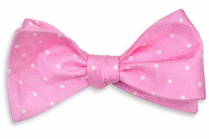 True Pink Dot Bow Tie