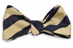 All American Stripe Bow Tie - Black and Gold
