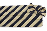 All American Stripe Cummerbund Set - Black and Gold