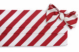 All American Stripe Cummerbund Set - Crimson and White