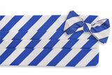 All American Stripe Cummerbund Set - Royal and White