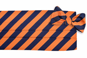 All American Stripe Cummerbund Set - Orange and Navy