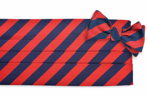 All American Stripe Cummerbund Set - Red and Navy