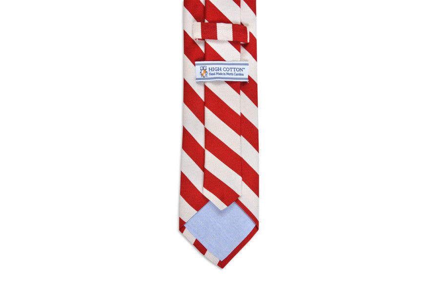 All American Stripe Necktie - Red and White