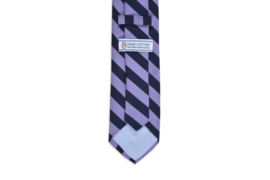 All American Stripe Necktie - Lavender and Navy