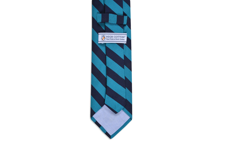 All American Stripe Necktie - Teal and Navy
