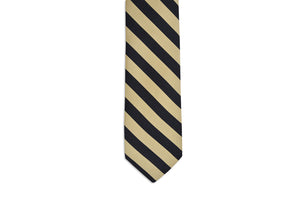 All American Stripe Necktie - Black and Gold