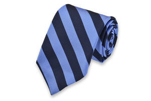 All American Stripe Necktie - Powder and Navy
