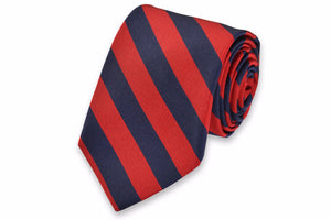 All American Stripe Necktie - Red and Navy