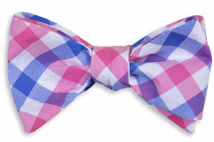 Battery Check Bow Tie - Pink