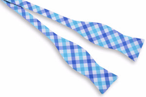 Battery Check Bow Tie - Blue