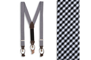 Black Gingham Braces