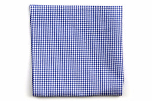 Royal Blue Seersucker Gingham Pocket Square