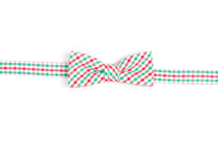 Christmas Tattersall Boy's Bow Tie