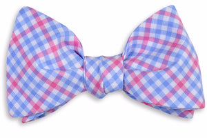 French Quarter Check Bow Tie - Pink