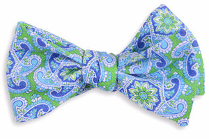 Green Derby Paisley Bow Tie