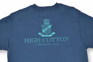Cotton Crest Pocket Tee - Navy