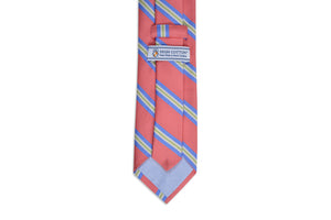 Harbor Stripe Necktie - Coral