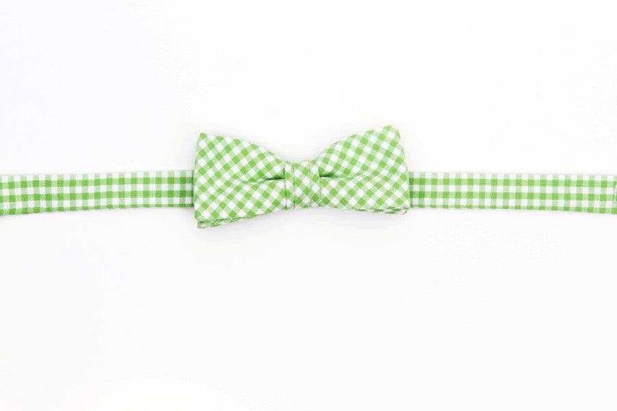Bentgrass Gingham Boy's Bow