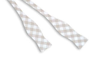 Big Gray Check Bow Tie