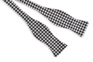 Black Houndstooth Bow Tie